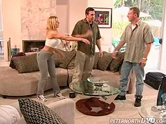 Amber Michaels gets her lower holes licked and fucked