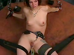 Military man favors this BDSM submissive girl