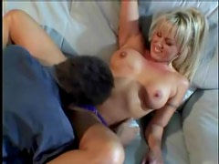 Blonde is gorgeous fooling around with her man
