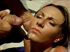 Lucky gripping girls get loads of warm cum in tgreetingss video