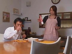 Sexy Japanese babe gets fucked hard and facialed