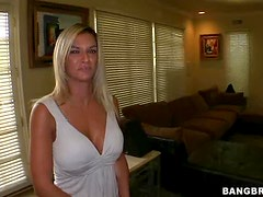 Eurobabe Came To America to get a Monster Cock in her Mouth and Pussy