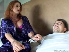 Sexy Redhead MILF Fucks a Monster Cock in Lingerie