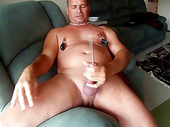 Down the eye of my cock