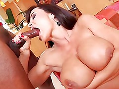 hot chick takes a black dick