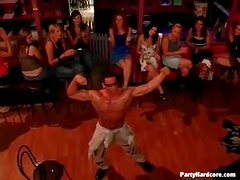 Man dances for hot ladies at the club
