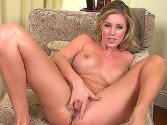 Samantha Saint shows that she's no saint when all alone in bed