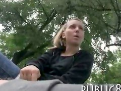 Cute amateur Czech girl paid for harcore fucking in public