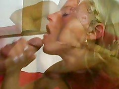 Big cock cum in her face