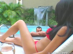 Latina honey getting some serious outdoor anal