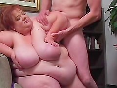 BBW redhead in uniform hardcore sex