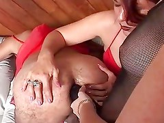 Nasty Babes Dominating A Man Ass...