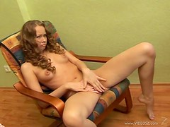 Hot Teen Orgasms with Yellow Dildo