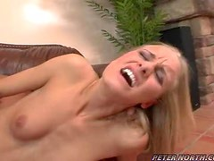 Pretty Leah Wilde gets fucked deep in her hot pusy