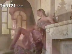 Young babe teasing in every home in flat