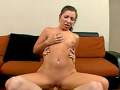 Cumshot right on her sexy asshole