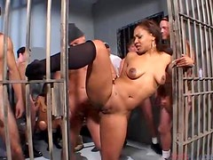 Stunning Adina Jewel gets fucked in the prison cell