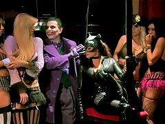 Costume party turns to fuck orgy