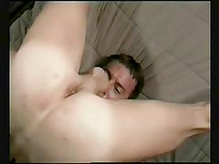 Selfsucker cums in his mouth