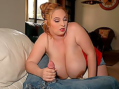 Curvaceous April McKenzie Gives Awesome Blowjob In Lingerie