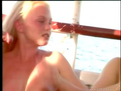 Two Hot Gals Getting Banged On A Boat
