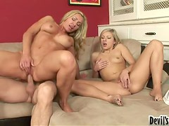 Threesome With Mother & Daughter.