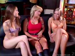 Pussy Eating Fest With Three Smoking Hot Gals
