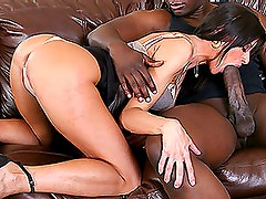 Gorgeous Brunette Babe Loves Getting Fucked By Big Black Cocks