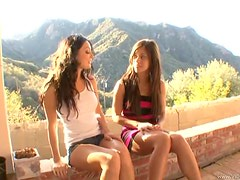 Alyssa Reece And Melissa Jacobs In Outdoor Lesbian Scene