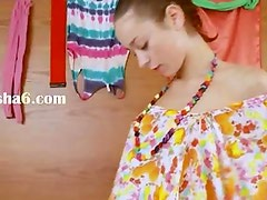 Thin russian chick Natasna vibrating