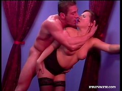In stockings with see Katja Kassin banging