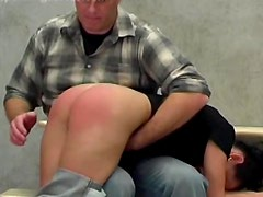 Spanked over the knee and screaming
