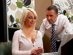 Big naturals on blonde Lexi Swallow fucking