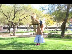 Nudity Shows At The Park With The Naughty Blonde Teen Jayde