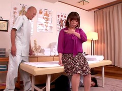 Masseuse Massages Busty Rin Aoki Inside With His Cock