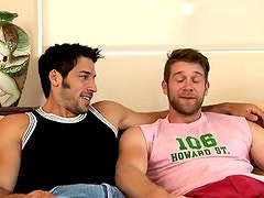 Colby Keller has the first hand look at Leo Giamani's nine inch piledriver.  Deep throat... hungry hole... is able to he take it all?