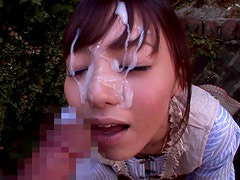 Sexy Cock Sucking Teen Aino Kishi Takes A Sticky Facial