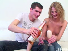 A Creamy Facial For The Blonde Teen Kaja