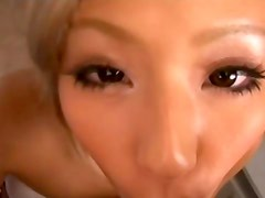 Blonde And Tanned Japanese Babe Wants Cock