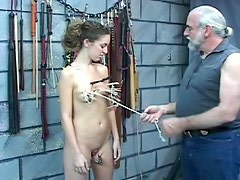 Young lady loves the abuse in the dungeon