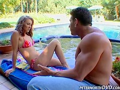 Kody Coxxx has amazing sex with Lee Stone on the poolside