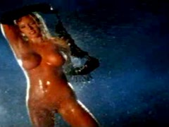 Jaime The Stunning Blonde Sprays Water All Over Naked Herself