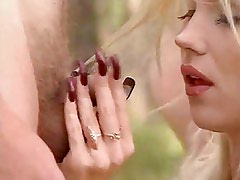 Long Nails Blowjob in Forest