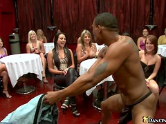 Male Strippers Get Blowjobs From Party Girls.
