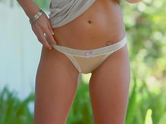 Innocent Virtue Holly Jean gives s hot strip show