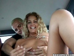 Melanie Takes a Thick Cock inside a Car