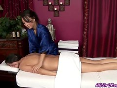 Hot Masseuse Pleases Her Clients In A Whole Different Level