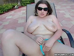 Naturally Busty Babe Gets Fucked Hard After Coming Out Of The Pool