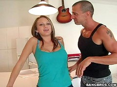 First Time Hardcore Scene On Camera For A Hot Babe