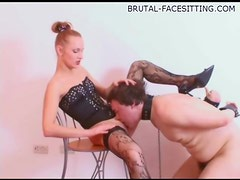 Hot pussy and ass worship session with mistress